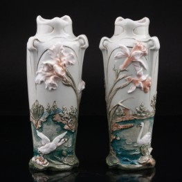 Две вазы в стиле модерн, Karl Ens, Германия, кон. 19 в