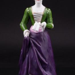 Дама с книгой в средневековом платье, Дрезден, Германия, сер. 20 в