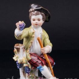 Мальчик с виноградом, Meissen, Германия, вт. пол. 20 в