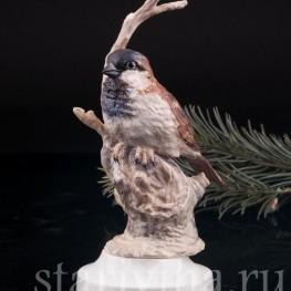 Статуэтка птицы из фарфора Воробей, Англия,, вт. пол. 20 в.
