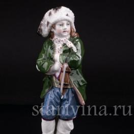 Аллегория Зимы, мальчик с коньками, Konigliche Porzellan-Manufaktur (KPM), Германия
