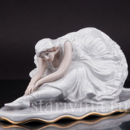 Фарфоровая статуэтка балерины Умирающий лебедь (Анна Павлова), Rosenthal, Германия, 1948 год.